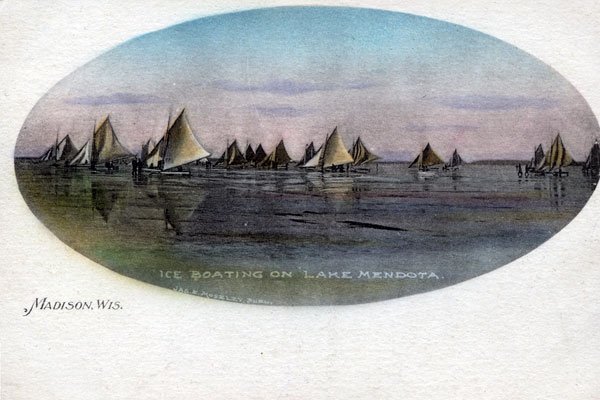 Wish You Were Here: Vintage Iceboat Postcards from Madison