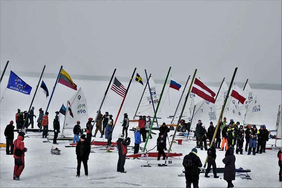 Junior Ice Sailing World Championship: Day 1