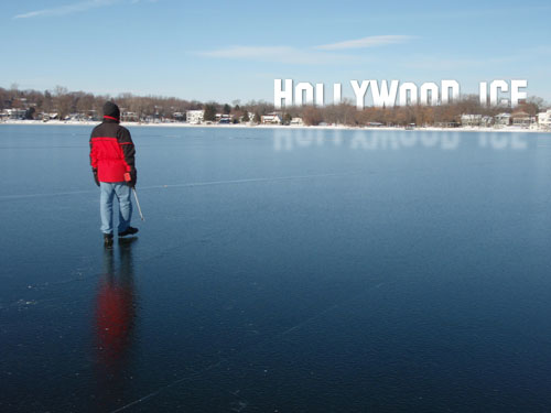 Hollywood ice on Lake Mendota