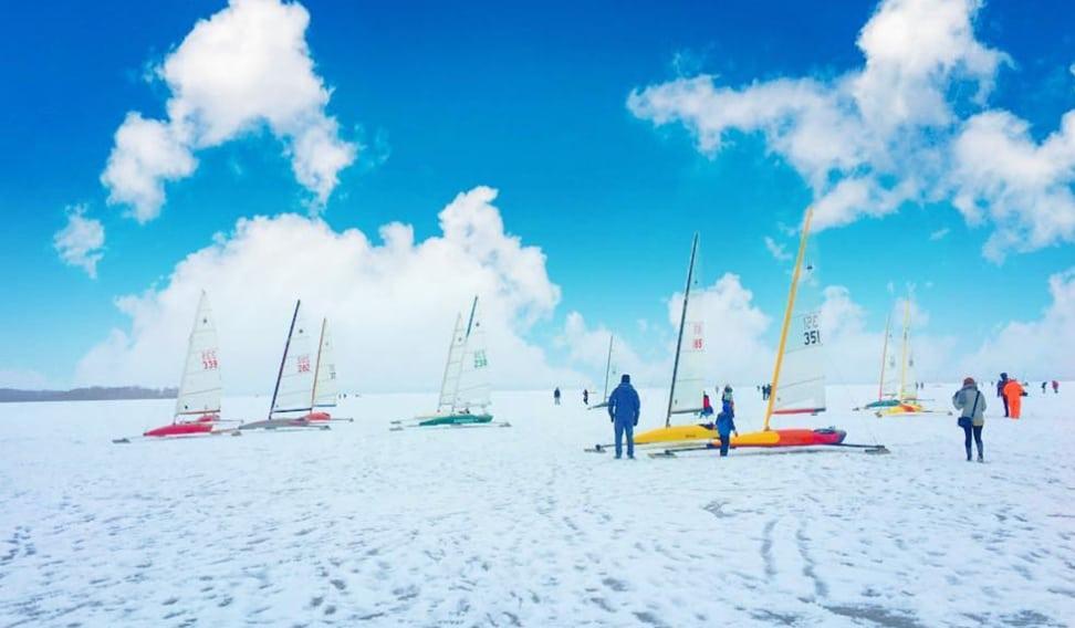 Nite Iceboats Lake Mendota