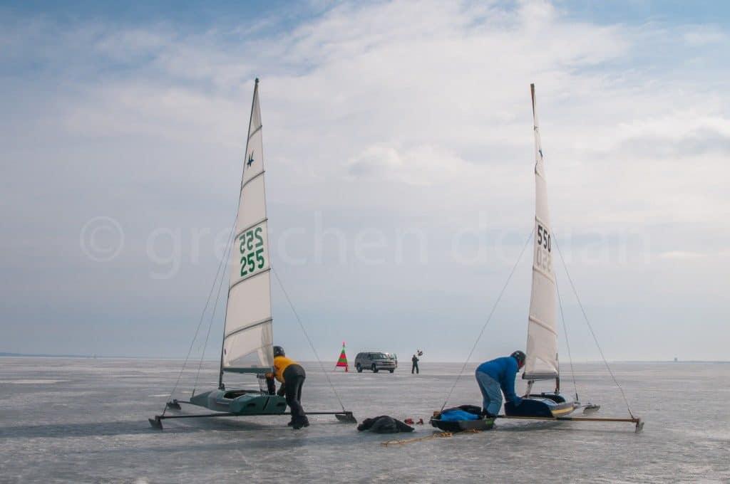 Copyright Gretchen Dorian Nite Iceboat Sailing